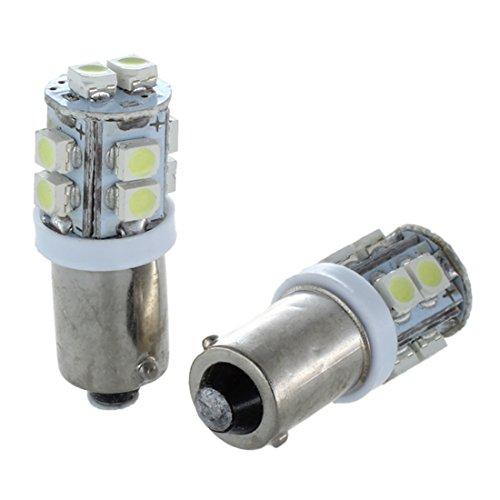 TOOGOO(R) 2X T11 BA9S T4W 10-SMD Xenon Blanc Haute Puissance LED Laterale Ampoule Lampe de Voitures 12V UK