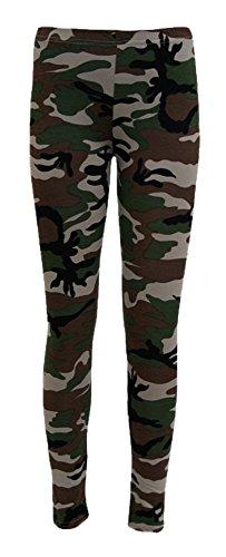 Fast Fashion - Jambières Plus La Taille Camouflage Armée Impression - Femmes Brun