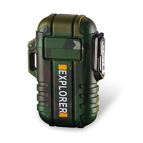 Elektronisches Aufladbar Feuerzeug USB Plasma Wiederaufladbar Flammenlos Winddicht Wasserdicht
