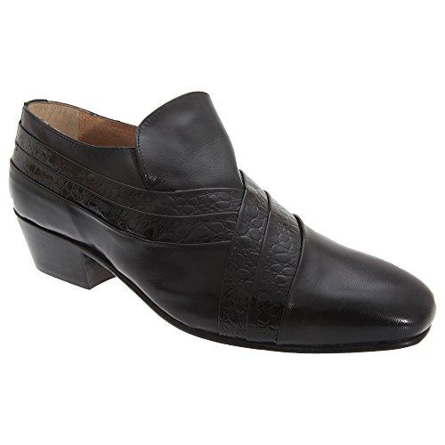 Montecatini Chaussures de Ville en Cuir à Talon cubain - Homme Noir