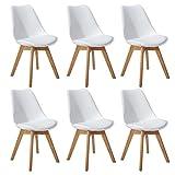 DORAFAIR Lot de 6 Chaise de Cuisine pour Salle à Manger Design scandinave,Chaises...