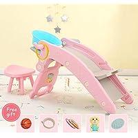 Rocking chair ☝YY Caballo Mecedora Multifuncional para niños, con Mecedora de Juguete y Cama Musical Silla Mecedora - Muchos Regalos (Color : Pink, Tamaño : B)