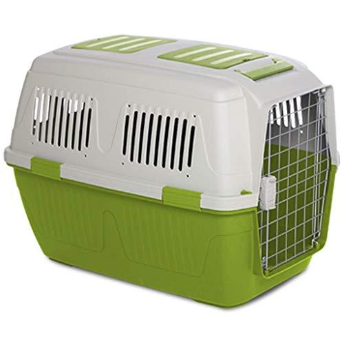 ZTMN Forniture per Animali Domestici Scatola per Animali Domestici con Ruote Trasportatore di Trasporto Extra Large Gatto Cane Fuori Sicurezza di Viaggio Tappetino per griglia WC (Colore: Verde,