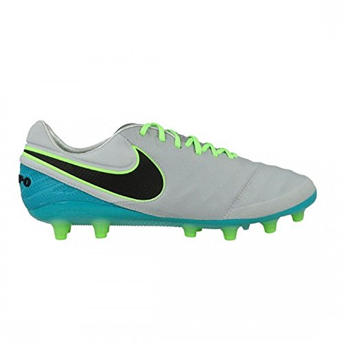 Nike Tiempo Legend Vi Ag-Pro, Chaussures de Football Homme Gris (Wolf Grey / Black-Clear Jade-Hyper Turq)