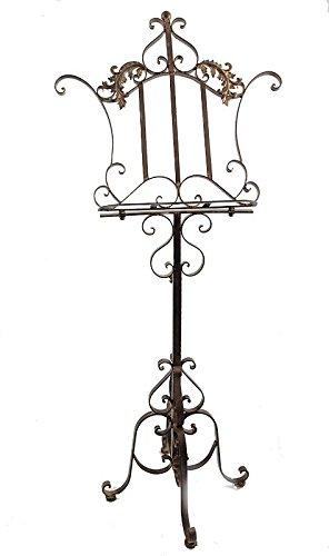 Notenständer aus Eisen Antik Stil höhenverstellbar