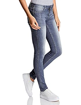 oodji Ultra Damen Jeans Skinny mit Normaler Bundhöhe