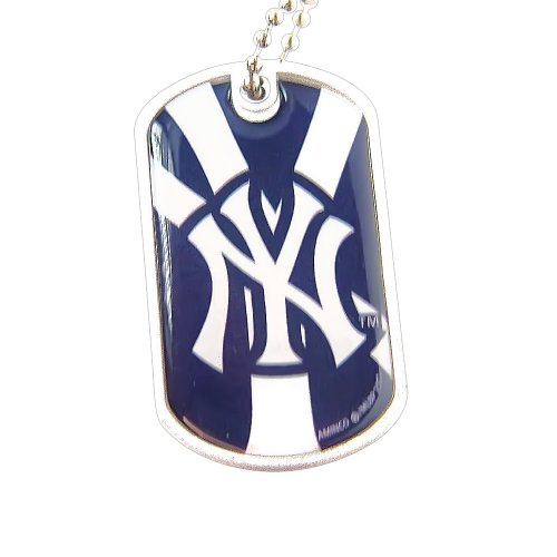 MLB New York Yankees Dog Tag Necklace Charm Chain -