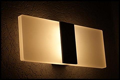 KINDSONG 7W Lampe Murale Applique Moderne Acrylique LED 3000-3500K 29 x 11 x 5cm Lumière Designe Créatif Aluminium Avec des Autocollants Décoratif pour Commutateur pour Maison Couloir Salon Chambre Trail Balcon - Blanc Chaud