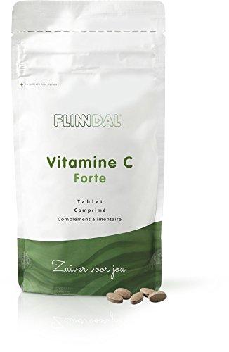 Flinndal Vitamin C Forte Kautablette - Kautablette Für Die Widerstandskraft, Mit Orangengeschmack - 90 Tabletten - Flinndal - Vitamin C Und 500 Mg Kautabletten