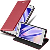 Cadorabo Coque pour Nokia 3 2017 en Rouge DE Pomme - Housse Protection avec Fermoire Magnétique, Stand Horizontal et Fente Carte - Portefeuille Etui Poche Folio Case Cover