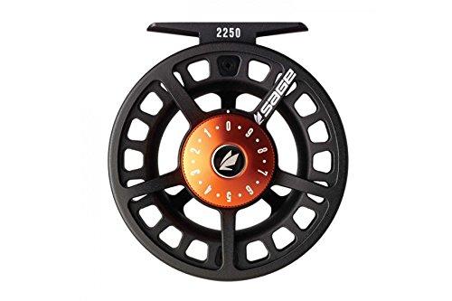 Salbei Fly Angeln 22303–4WT. Rollen, schwarz/Blaze (Fly Reel Bearbeitet)