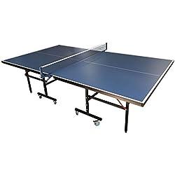 Mesa de ping pong compacta para–azul ping pong de mesa pingpong alta calidad