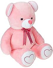 Amazon Brand- Jam and Honey Pink Teddy 3.5 Feet Standing