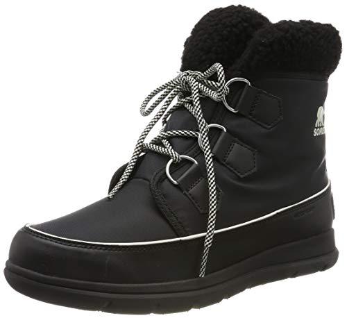 Sorel Damen Explorer Carnival Stiefel, schwarz/grau (sea salt), Größe: 37 - Schwarz Pu Lace Up Stiefel