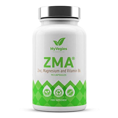 Myvegies zma - integratore vegano100% puro: fonte di zinco, magnesio e vitamina b6, aumenta massa muscolare, forza, energia e recupero post-workout, 90 capsule