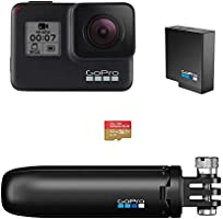 GoPro HERO7 Black - Waterproof Digital Touch Screen Action Camera 4K HD Video 12MP Photos Live Streaming
