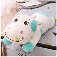 Blue Cute Cow Plush Toy Rag Doll Sleeping Pillow Bed Doll Girl Doll Gift