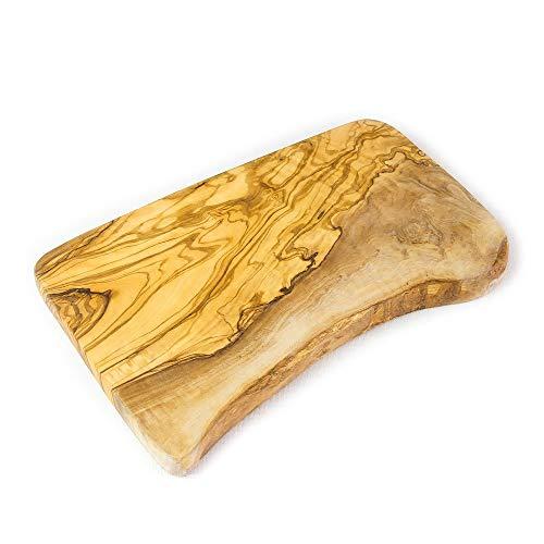 Tagliere rustico in legno di ulivo, per servire e formaggi, 30 x 15 x 2 cm