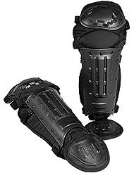 Mil-Tec - Rodilleras con espinilleras, color negro