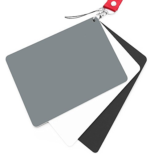 Belichtungskarte von Anwenk, Grau-Karte, weiße Balance-Karte, 18 %, 12,7 x 10 cm, maßgefertigter Kamera-Kalibrierungsüberprüfer, Video, DSLR und Film (Karte Grau)