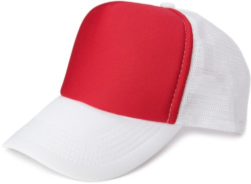 styleBREAKER 5 Panel Mesh Cap 04023007 (Rot-Weiß)