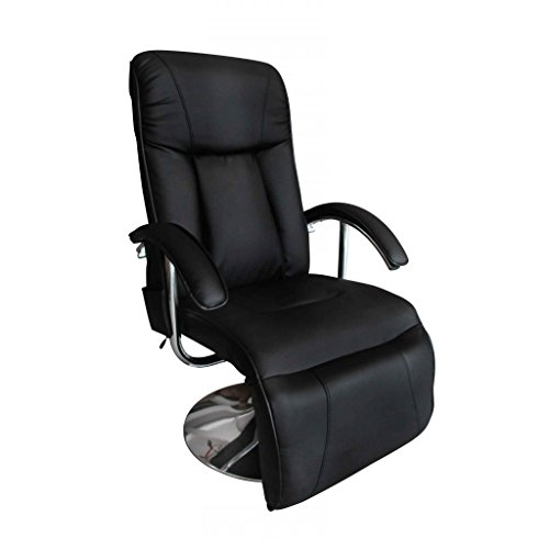 Anself Fernsehsessel TV Sessel Relaxsesse aus Kunstleder mit 10 Point Massage 2 Farbe Optional (Liege-farbe Leder Ergonomische)