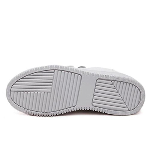 L@YC Pattini piani delle donne scarpe di cuoio studenti casuale in primavera Little White Pattini Bianchi White
