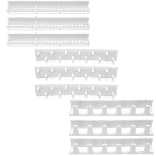 9 Stück Lagerung (Jiamins 9 Stück Schmuck Lagerung Haken,Klebstoff Paste Aufhänger Rack Ornamente Anzeige Klebriger Haken (Weiß))