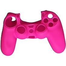 Timorn silicona caucho suave protector de la piel caso de la cubierta para PS4 controlador agarre manejar (Rosa)