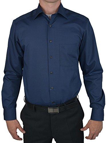 Camicia da uomo 'modern fit' a maniche lunghe Blu