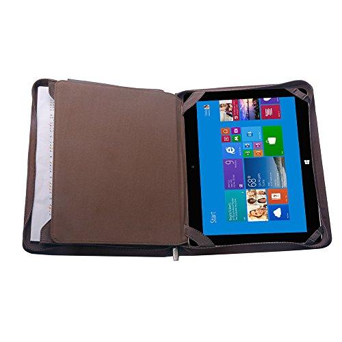 Wollfilz iPad Padfolio, Organisator-Folio-Kasten für Microsoft SurfacePro4/The New Surface Pro und A4 Notizblock,Kaffe (Padfolio Case Für Ipad 4)
