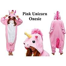 Pink Unicorn Kids Onesie Girl's Ladies loungewear fancy dress costume Christmas Halloween girls