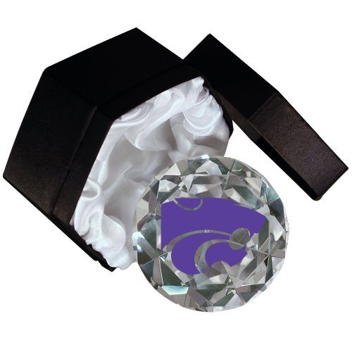 Sports Collector's Guild NCAA Kansas State University Wildcats Briefbeschwerer mit Diamantschliff, 10,2 cm Kansas State University