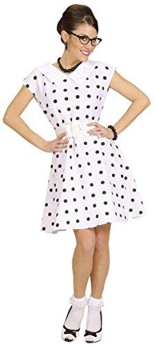 Widmann 50er-Jahre weißes Kleid mit Pünktchen für Damen