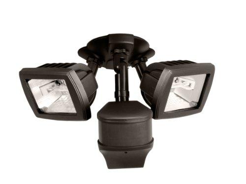 EATON Lighting MS280D 270 Degree 200W Light Type: Halogen Precision Plus Doppler Radar Motion Security Floodlight, Bronze