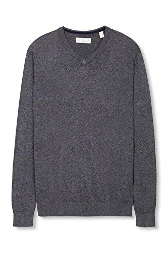 Esprit Basic-Regular Fit, Pull Homme Gris (DARK GREY 020)