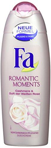 Preisvergleich Produktbild Fa Romantic Moments, Duschcreme mit Cashmere & Duft der Weißen Rose, 250 ml