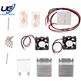UG LAND INDIA Thermoelectric Peltier Cooler Refrigeration Cooling System Heat Sink Conduction Module + 2 Fans + 2 TEC1-12706 144W Power KIT