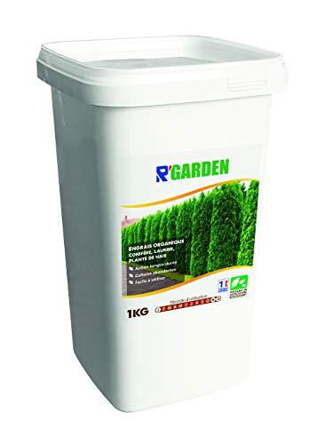 r'garden - concime organico per conifere, alloro e piante di siepe, fertilizzante naturale, nutriente in profondità, facile da usare, 1 kg
