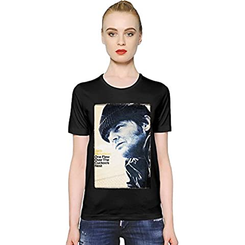 One Flew Over The Cuckoo's Nest R.P. McMurphy T-shirt donna Women T-Shirt Girl Ladies Stylish (Rp Tee)