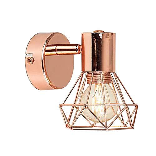 MAGICE LED Wandleuchten Dekorative Wandlampe Wohnzimmerleuchten Küchenwandleuchte, kreativ Beleuchtung zu Hause Befestigung für Badezimmer, Arbeitszimmer, Schminktisch,Rosegold (Birne-installer)