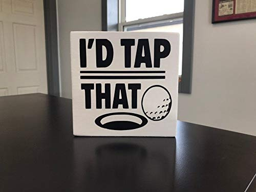 Eyrrme Cartel con Texto en inglés ID Tap That Sign» para Amantes del Golf, decoración de Cuevas, Regalo para golfistas