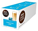NESCAFÉ Dolce Gusto Cappuccino Ice | 48 Kaffeekapseln | Arabica Bohnen | Vollmundiger Kaffee und lockerer Milchschaum | Aromaversiegelte Kapseln | 3er Pack (3 x 16 Kapseln)