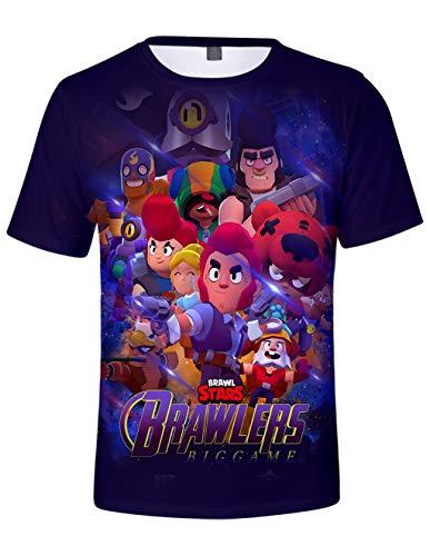 Casuale uomo maglietta brawl stars maniche corte maglia con stampa 3d estate t-shirt tee camicia tops camicetta blusa maglietta da ragazzo bambini