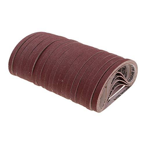 Preisvergleich Produktbild Baoblaze 100pcs Gewebe Schleifbänder für Bandschleifer Schleifpapier Schleifmaschinen Metall Schärfen 110mm
