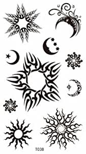 spestyle look like real tattoos for women and girls the design including different sun moon and. Black Bedroom Furniture Sets. Home Design Ideas