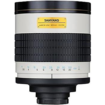 Samyang F1111811101 - Objetivo fotográfico T-Mount (distancia focal fija 800mm, apertura f/8 MC IF Mirror) negro/blanco