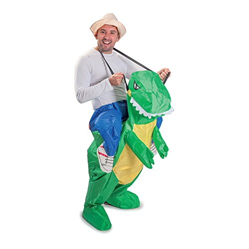 Funtime Gifts PT8300 Aufblasbares T-Rex Dinosaurierkostüm, Unisex-Erwachsene, Einheitsgröße
