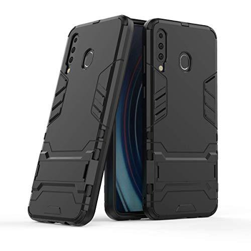 Mobilemart Shock Proof Kickstand Hybrid Back Cover for Samsung Galaxy M30 (Black)