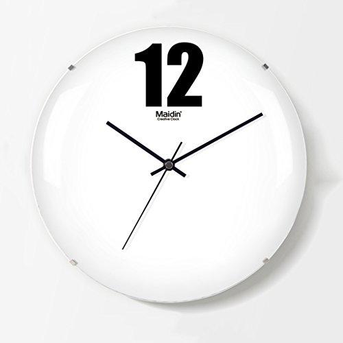 Art wall-clock XZG Büro Stille Wanduhr, Schlafzimmer Kinderzimmer Villa Klassenzimmer Restaurant Wohnzimmer Die Studie Wanduhr Rahmenlose Glaswanduhr 20-28 cm -Dekorate Ort des Lebens -